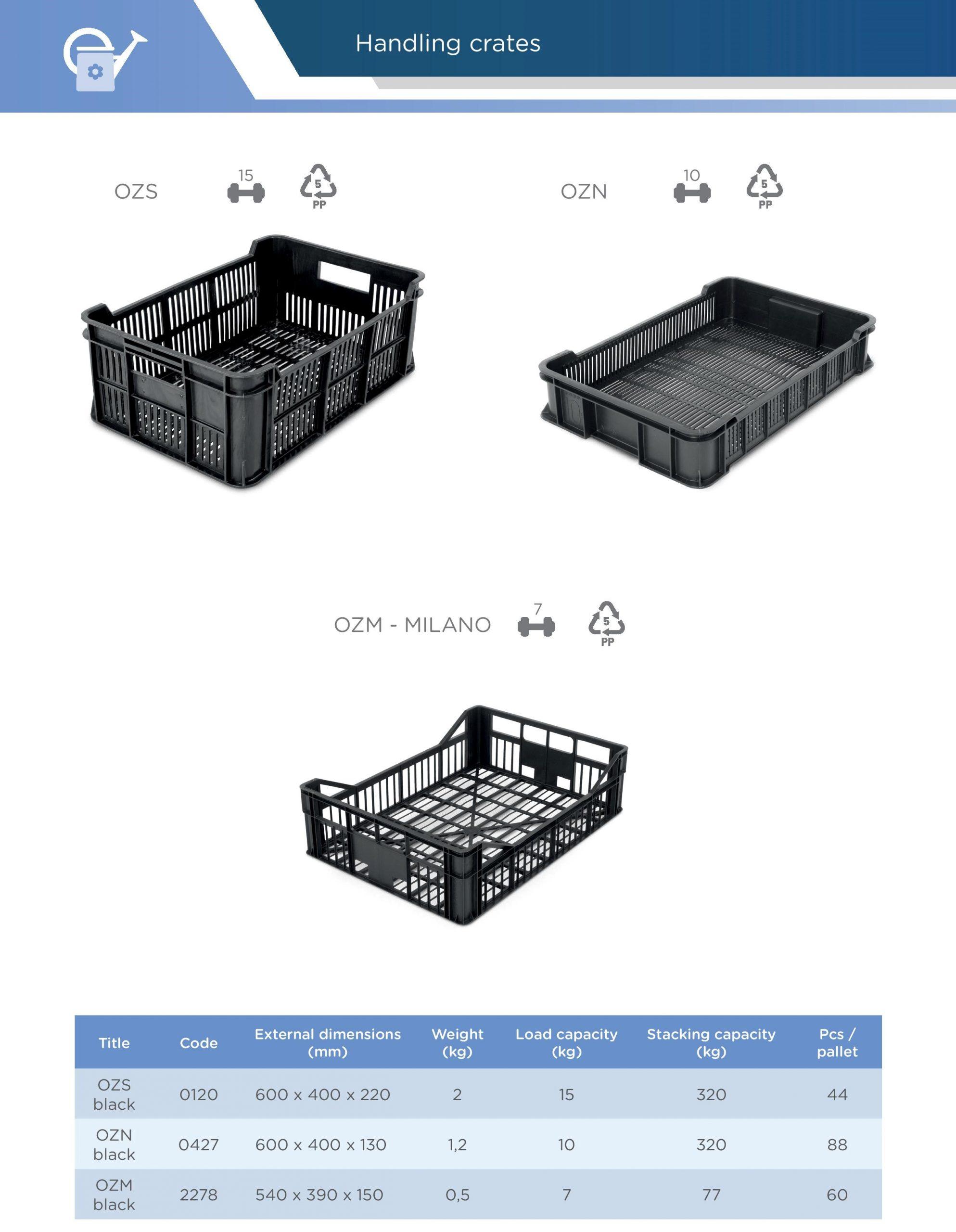 Manipulační přepravky Averium Plastics