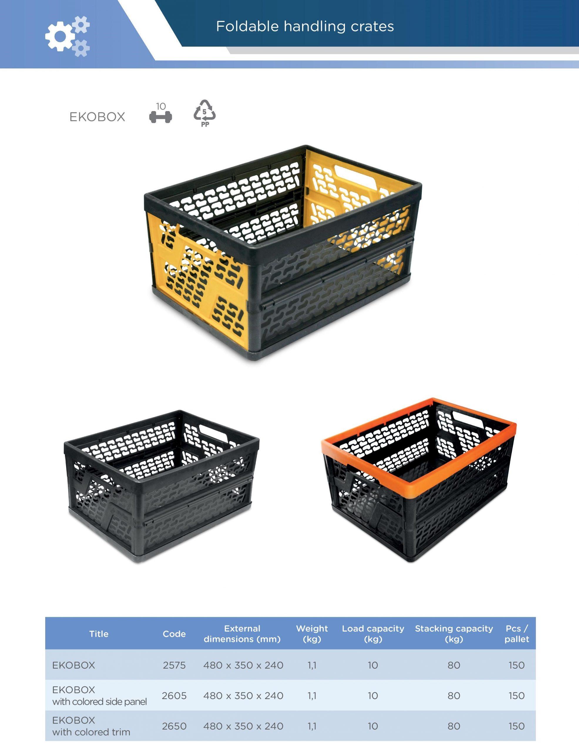 Skládací manipulační přepravky Averium Plastics