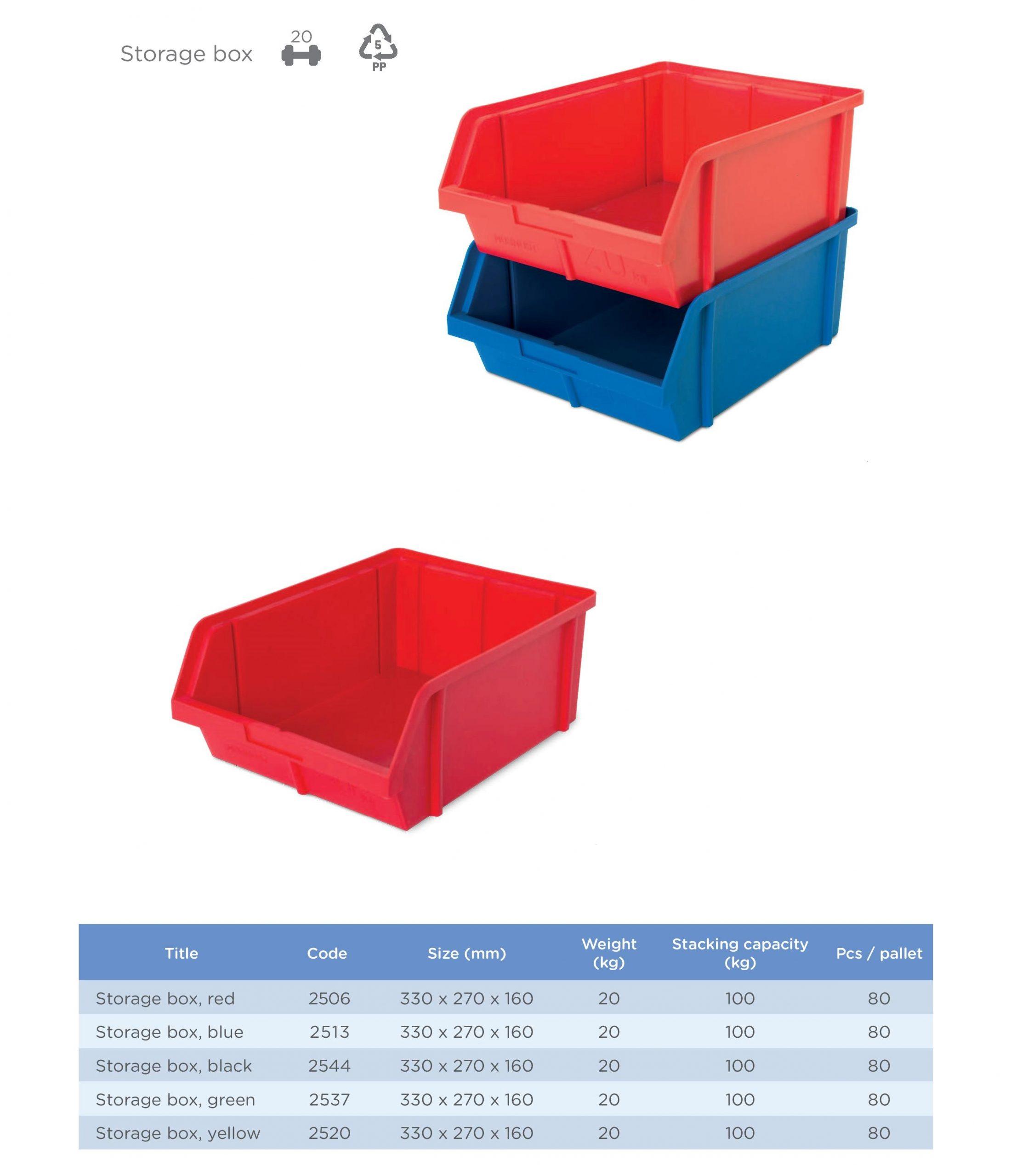 Ukládací bedny Averium Plastics